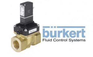 Burkert Type 6212 Diaphragm Valve 2/2 Way Servo-assisted